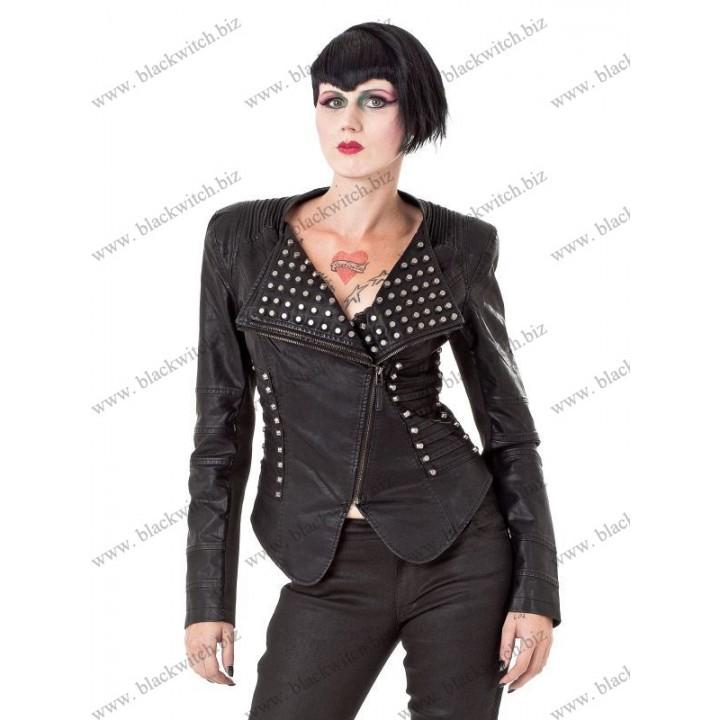 Cropped studded Leather Jacket