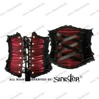Corset Belt Black Red