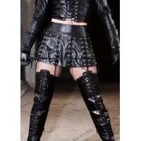 Fancy leather skirt