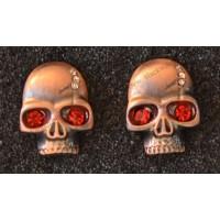 Headphone skull red crystal eyes