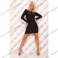 Sexy long sleeve mini dress black