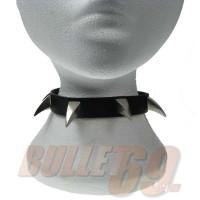 1 Row Small Claw Leather Neckband / Chocker - Black