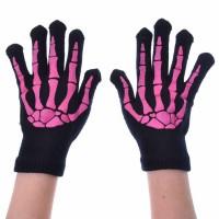 Bgs Fingerless Gloves Ladies Black/Pink